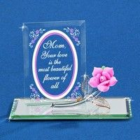 """Glass Baron """"Most Beautiful Flower"""" Pink Rose Figurine #mothersday"""