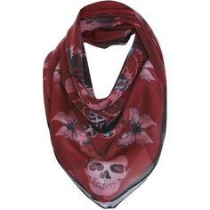 Berry Etherial Skull Scarf ($28) ❤ liked on Polyvore