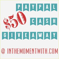 $50 PayPal Cash Giveaway {WW #80}