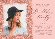 Glitter Abstract - Birthday Invitation #invitations #printable #diy #template #birthday #party Free Birthday Invitations, Text Messages, Rsvp, Abstract, Party, Summary, Text Messaging, Parties, Texting