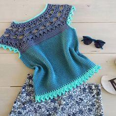 Pull Crochet, Crochet Shirt, Crochet Crop Top, Crochet Jacket, Crochet Baby, Crochet Bikini, Knit Crochet, Ladies Tops Patterns, Vest Pattern