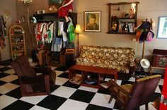 Vintage furniture and clothes inside It's Vintage Darling shop in Annerley Vintage Furniture, Vintage Shops, Vintage Fashion, Bed, Shopping, Clothes, Home Decor, Outfits, Clothing