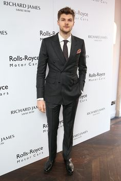 To really nail suiting, it's important to get it tailored like Jim Chapman's D-B suit at the Richard James show. Perfect fit.