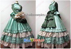 $145.00    Otome Yokai Zakuro Cosplay Bonbori Hozuki Evening Dress    Including:Dress + Belt + Crinoline    Material :Satin + Cotton