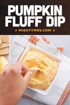 Pumpkin Fluff Dip, Pumpkin Pie Spice, Pumpkin Puree, Pumpkin Recipes, Fall Recipes, Sweet Potato Souffle, Tasty Bites, How Sweet Eats, Football Parties