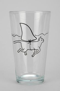 Is it a shark? Nope, just a cat dressed a shark, floating around in your pint glass. #urbanoutfitters
