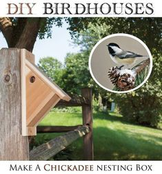 DIY Nesting Box Plans {+Book Giveway} - Empress of Dirt #easywoodworking #birdhouse http://empressofdirt.net/diy-nesting-box-plans-2/ #diybirdhouse #aviariesdiy