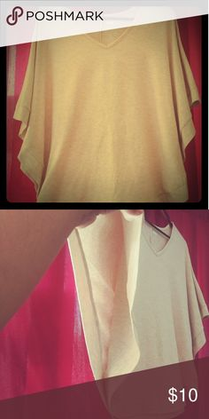 Beige top Used .. From a new approach made in Vietnam 61% polyester 33% rayon 6% spandex Tops Blouses