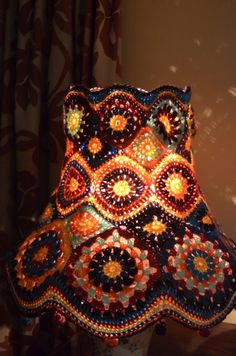 Stained Glass Crochet Lamp