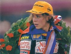 Young Valentino Rossi.