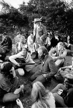 A crowd gathers on a hilltop at sunrise in San Francisco to bask in the afterglow of the Summer of Love in October 1967. Photo: AP / 1967 AP