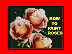 """How To Paint Roses - Folk Art - One Stroke Luz Angela´s Technique - YouTube -  these are extracts from a Brazilian program """"Ateliê na TV """" (workshop on TV) the artist is Luz Angela Vera Barrios (Colombia), she teaches her technique in workshops and dvd tutorials.  the tecnique is called """"Pincelada Básica"""" (One stroke painting)"""