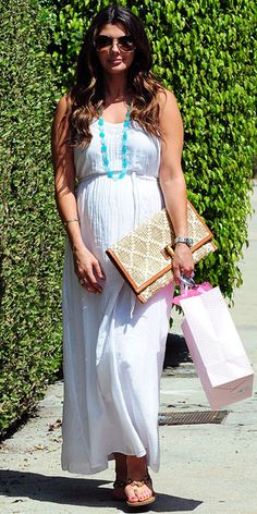 gorgeous maternity style...much different than my typical sheet draped on large body look