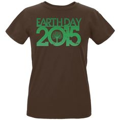 Earth Day - 2015 Tree Women's Organic Chocolate T-Shirt