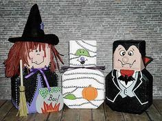 Image detail for -cute craft ideas and some tips Painted Bricks Crafts, Brick Crafts, Painted Pavers, Stone Crafts, Cement Pavers, Brick Pavers, Concrete Bricks, Painted Rocks, Halloween Rocks