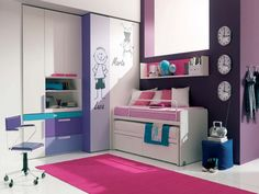 Small Room Ideas for Girls with Cute Color Interior Modern Teenage Bedroom Eas Mesmerizing Teen Room Decor Small Bedroom Ideas Small Bedroom Design Ideas For Couples Bedroom Modern Small Bedroom Designs. Teenage Girl Room Designs Ideas. Little Girls Room Designs. | offthewookie.com