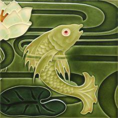 Golem Tile and Building Ceramics GmbH | Art Nouveau Tiles - Decor | Jugendstilfliesen6 See other pin