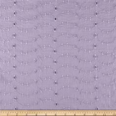"Eyelet Allover Lilac from @fabricdotcom  This pretty polyester blend eyelet fabric is perfect for creating blouses, dresses, heirloom sewing, overlays, fuller skirts and even home décor accents...56"" wide...4.23 a yard on sale"