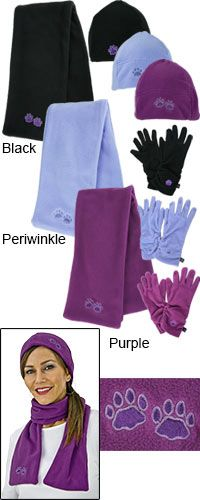 Purple Paw Plush Microfleece Accessories at The Animal Rescue Site  WOW! LOOK HOW CUTE AND CHEAP! And when you buy you donate bowls of food to shelter animals:) Please Share!