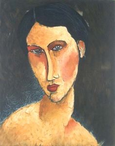 Amedeo Modigliani. Mujer joven con ojos azules. Óleo sobre lienzo. Colección privada. WikiPaintings.org - the encyclopedia of painting