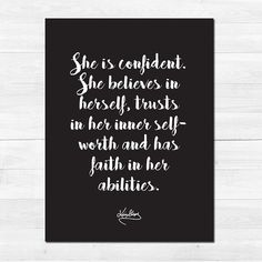 She is confident! @l