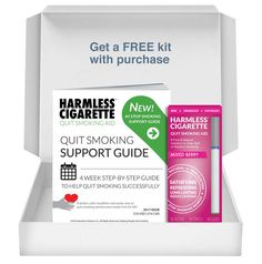 Harmless Cigarette Quit Kit / Includes: Harmless Cigarette (Mixed Berry) + FREE Quit Smoking Support Guide to help you successfully quit smoking and become smoke-free for life!  Get your Quit Kit Today Available On www.HarmlessCigarette.com