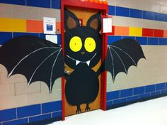 Bat door decoration October 2014