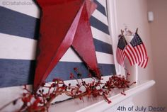 4th of July mantel and crafts