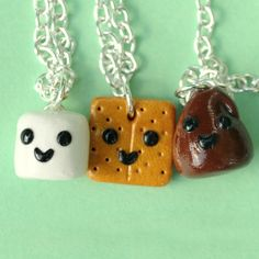 S'more 3 Way BFF Necklaces - its cute but the poor person who gets the graham cracker