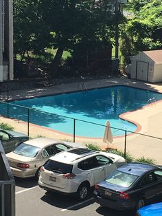 801 South Chester Rd. unit 308 in The Briarcliffe. Come enjoy this pool view from your balcony. Available right now, 610-656-5105.