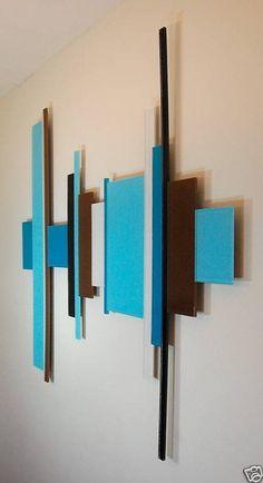 messicakes on Etsy Modern Wall Sculptures, Sculpture Art, Diy Wall Art, Wood Wall Art, Styrofoam Wall Art, Dining Room Wall Art, Bamboo Art, Music Wall, Decorative Panels