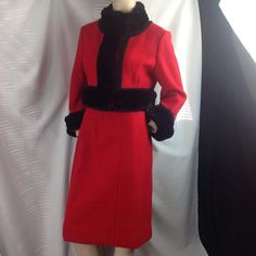 1960s Fred Hayman Giorgio Beverly Hills Red Wool by SummerSalvage