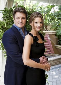Hollywood Foreign Press Association - Press Conference - nathan-fillion-and-stana-katic Photo