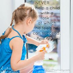 """Never help a child with a task at which he feels he can succeed."""