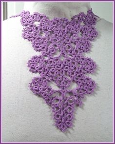 Lilac Tatted Bib Necklace - WOW