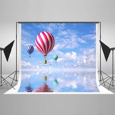 Purchase Clear Lake Photography Backdrops Colourful Fire Balloon Background Blue Sky Clouds Backrops for Studio Photo Props from Andrea Marcias on OpenSky. Share and compare all Electronics. Balloons Photography, Photo Balloons, Lake Photography, Photography Backdrops, Product Photography, Digital Photography, Newborn Photography, Photo Booth Background, Balloon Background