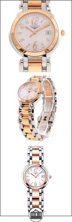 Longines L81125836 - Reloj de cuarzo para mujer, correa de acero inoxidable chapado en oro rosa color oro rosa  ✿ Relojes para mujer - (Lujo) ✿