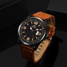 >> Click to Buy << SOXY brand fashion men's watch men watch auto date sport watches leather clock saat erkek kol saati relogio masculino reloj #Affiliate