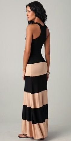 perfect fitted Maxi dress, love nude & black