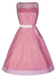 Lindy Bop 'Dolly' Elegant 50's Vintage Style Prom/Bridesmaid Dress (XS, Dusty Pink)