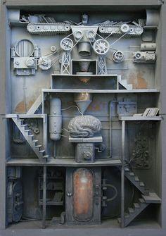 Marc Giai-Miniet - Remplissage du cerveau #marcgiaiminiet #boxes #jonathanlevinegallery
