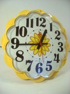 Time flies, especially when it looks so groovy! General Electric Mod wall clock...