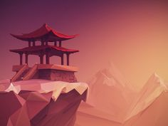 Low Poly Roof Of The World by Jona Dinges