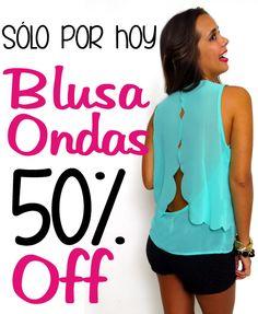 Sólo por hoy Blusa Ondas 50%Off!!!  Encuéntrala en: http://www.zocca.com.co/ropa/blusa-ondas-en-ruedo-y-escote.html  www.zocca.com.co SHOP ZOCCA ONLINE