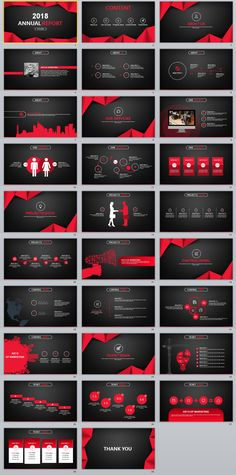 29+ red black annual report PowerPoint templates on Behance #powerpoint #templates #presentation #animation #backgrounds #pptwork.com #annual #report #business #company #design #creative #slide #infographic #chart #themes #ppt #pptx #slideshow