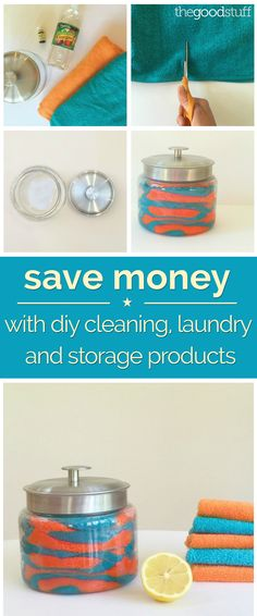 Save some green while going green! See how you can make these reusable household items.