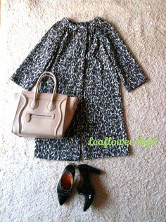 かっこよく着たい!レオパード柄のコート | Leaflower LIVING ハンドメイド・ワイヤークラフト教室 毎日着る上品なワンピースやスカートを作ってます