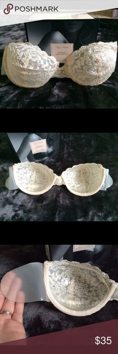 Victoria secret backless strapless bra D Backless strapless bra. Worn one time under my wedding dress. Sticky gel keeps its tightly on body. Says up to 25 wears. Creamy pink. Perfect for hard to wear dresses Victoria's Secret Intimates & Sleepwear Bras - sleepwear lingerie, lingerie pas cher, lace intimates *sponsored https://www.pinterest.com/lingerie_yes/ https://www.pinterest.com/explore/intimates/ https://www.pinterest.com/lingerie_yes/fantasy-lingerie…