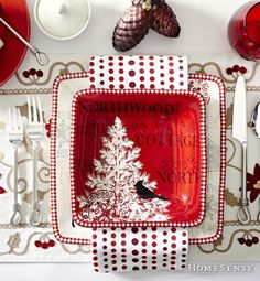 Discover unique decorative ideas for your home. HomeSense has a fine selection of Bed and Bath & Home Décor products at great prices. Find a HomeSense store near you. Christmas Table Settings, Holiday Tables, Christmas Decorations, Table Setting Etiquette, Homesense, Home Trends, Bath, Favorite Holiday, Christmas Home