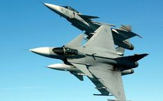 JAS-39-Gripen fighter jets